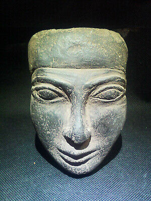 EGYPTIAN ANTIQUE ANTIQUITY King Amenemhet III Face Sculpture 1991-1782 BC