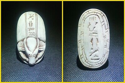 EGYPTIAN ANTIQUE ANTIQUITIES Scarab Beetle Khepri Figure Sculpture 1549-1174 BC