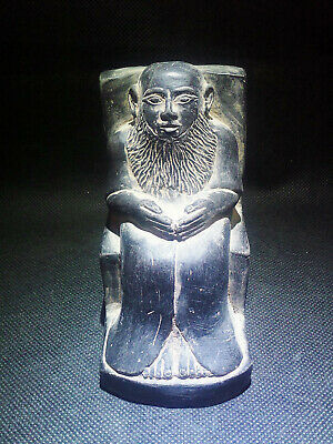 EGYPTIAN ANTIQUE ANTIQUITIES Priest Imhotep Sculpture Figure 1549-1104 BC