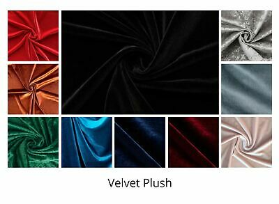 Velvet Fabric, Luxury High Quality Craft Dressmaking Stretch Material 57""