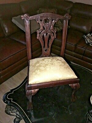 Remarkable Thomasville Custom Lion Coat Of Arms Upholstered Ball Claw Ibusinesslaw Wood Chair Design Ideas Ibusinesslaworg