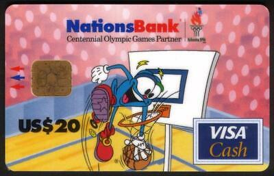 $20,20,50. 1996 Olympics VISA Cash: IZZY In Action Matched Set of 3 Smart Card