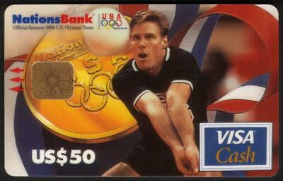 $50. 1996 Olympics VISA Cash: Gold Medal Volleyball Karch Kiraly USED Smart Card