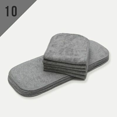 KaWaii Baby10/Pack Bamboo Charcoal Inserts for One Size Cloth Diaper Less Odor