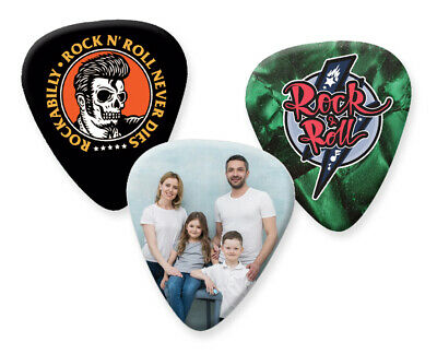 Guitar Picks Printed With Your Photo & Text Personalised Customised Plectrums