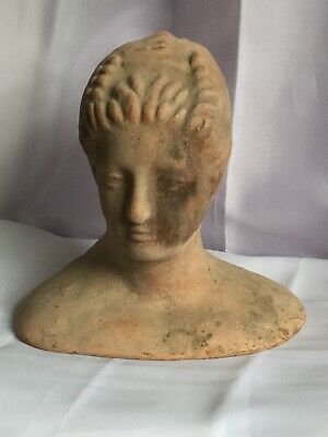 Ancient Greek Terracotta God Goddess Head Bust