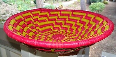 Vintage Native American  Indian Hand Woven basket tray wall decor
