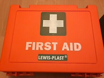 Lewisplast Deluxe Premium Empty First Aid Kit Orange Burns kit Large
