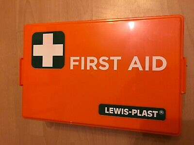 Lewisplast Deluxe Premium Empty First Aid Kit Orange Burns kit Small/Medium