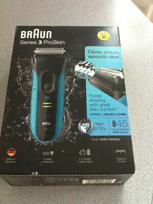 Braun 3040s Wet and Dry Cordless Rechargeable Men's Electric Shaver