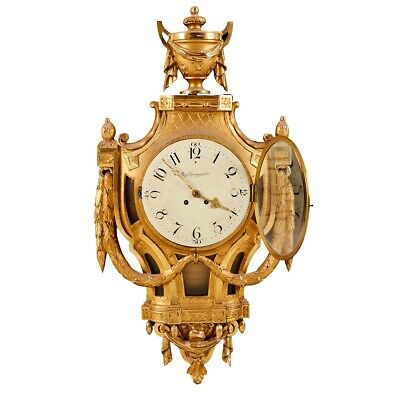 Gustavian Wall Clock by August Ljungqvist of Stockholm
