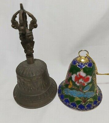 Collectable Solid Brass Bell - H14cm from top to bottom