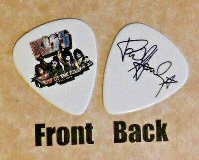 KISS - band Paul Stanley signature logo END OF THE ROAD guitar pick -(q1)