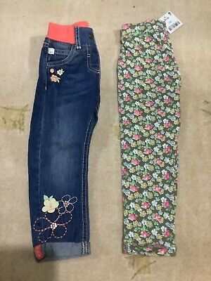 Girls trousers jeans Age 2-3 BNWT. Next and F&F