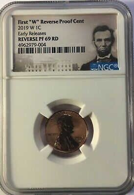 "2019 W First /""W/"" Mint Mark Cent EARLY RELEASES NGC PF69 RD U.C Portrait"