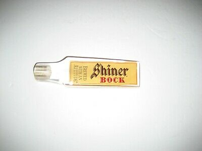 Shiner Bock BREWED WITH AN ATTITUDE tap handle - NEW