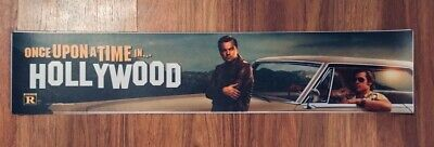 💥 ONCE UPON A TIME IN... HOLLYWOOD - Movie Theater Poster / Mylar - LARGE 5x25