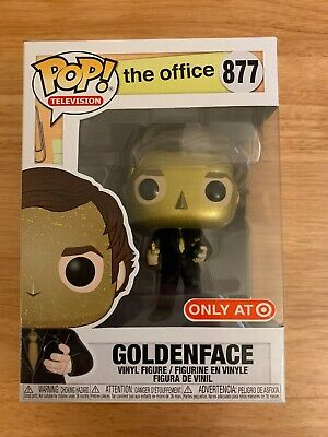 Funko Pop!Jim Halpert Goldenface Target Exclusive The Office Vinyl IN HAND