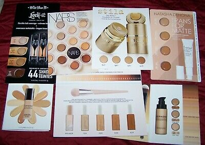 SEPHORA FOUNDATION/CONCEALER SAMPLE Cards Fenty, MILK, IT