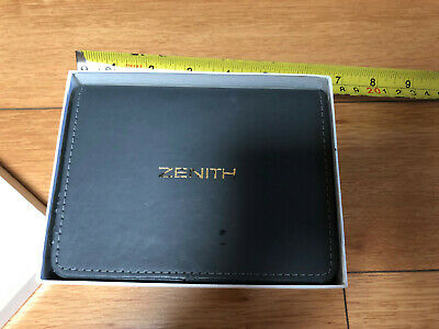 Vintage Zenith Chronograph Diver wristwatch box and outer box el primero defy