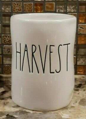 NEW  HTF Rae Dunn by Magenta LL HARVEST Wax Candle Scented  7.7 oz WHITE PUMPKIN