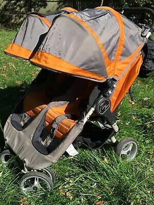 Baby Jogger City Mini Double Baby Side-by-side Stroller Orange/Gray (87179)