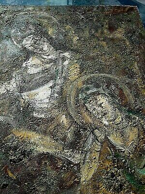 Antique Religious Painting, Virgin Mary, Jesus, Religious Icon, Signed Ghc 99. 1