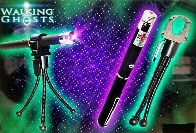 Ghost Hunting Equipment Uv Laser Holder With Tripod And Purple Paranormal Grid