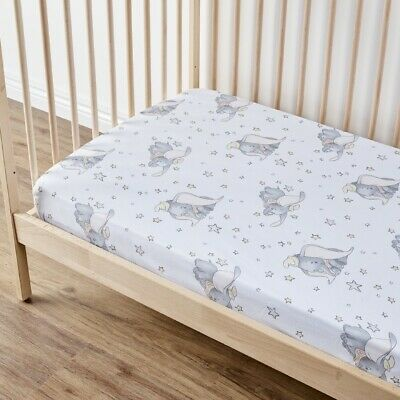 NEW Dumbo Nursery Fitted Sheet 2 Pack By Spotlight