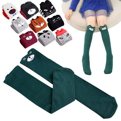 Kids Girls Cute Cartoon Animals Thigh Stockings Over Knee High Long Socks Fancy