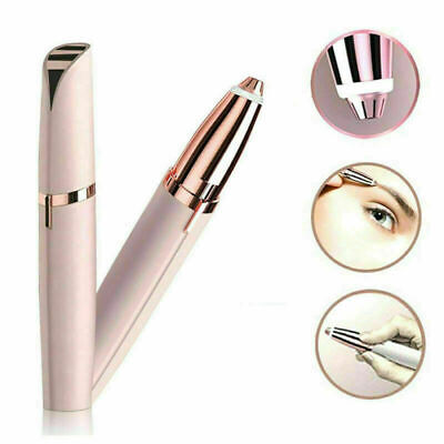 Face Electric Eyebrow Remover Razor Trimmer Facial Hair Removal LED Light HOT