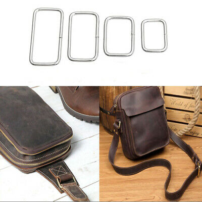 Rectangle Metal Square Ring Welded Buckles Leather Hand Bag Craft DIY 10-100pc G