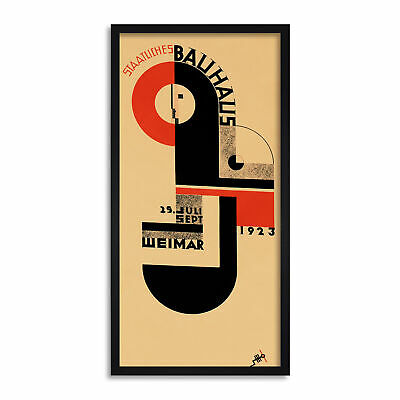 Bauhaus Weimar Expo 1923 Canvas Wall Art Print Poster Magnetic Hanger 24x12 Inch
