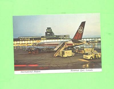 Oo Postcard Montreal International Airport Air Canada Plane Airplane