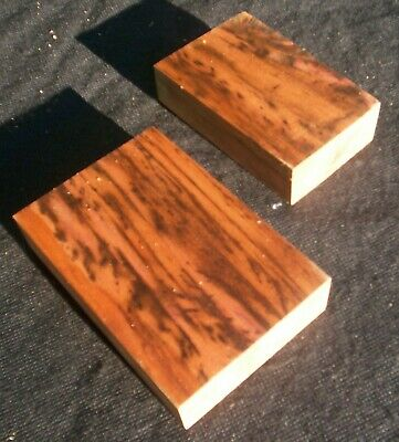 2 x Ultra Figured TIGER MYRTLE Craft Blocks