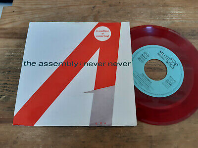 "7"" Pop The Assembly - Never Never / Stop Start (2 Song) MUTE / INTERCORD red v"