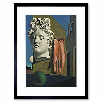 Painting De Chirico The Song Of Love Framed Art Print 12x16 Inch