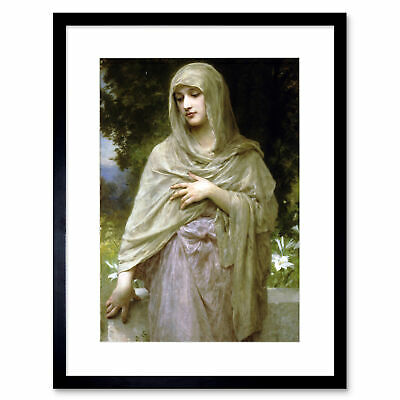 Painting Bouguereau Modestie Old Master Framed Print 12x16 Inch