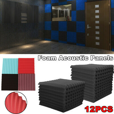 36Pcs Wall Sound Insulation Panels Proofing Foam Pads Acoustic Studio Treatments