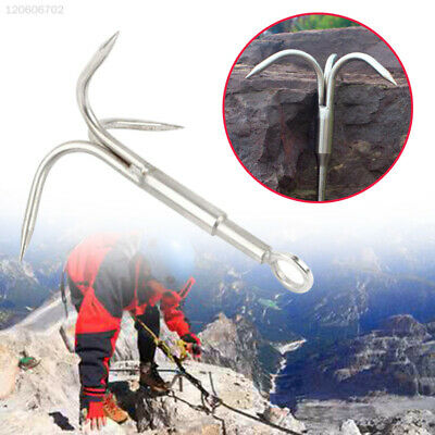 Grappling Hook Carabiner Climbing Claw Stainless Steel Outdoor Mountaineering