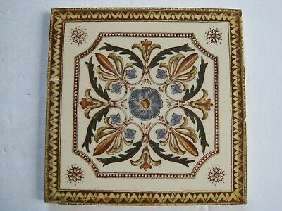 Antique Victorian Transfer Print & Tint Aesthetic Design Wall Tile