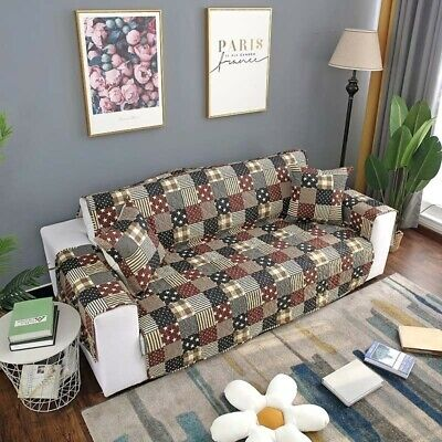 1-3 Seater Sofa Slipcovers Armchair Recliner Couch Covers Dog Cat Protector Mat