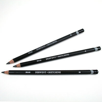 Derwent Individual Sketching Wide Strip Pencils - HB, 2B & 4B Grades Available