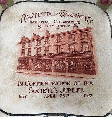 Antique 1872-1922 Plate Rawtenstall Conservative Industrial Cooperative Society