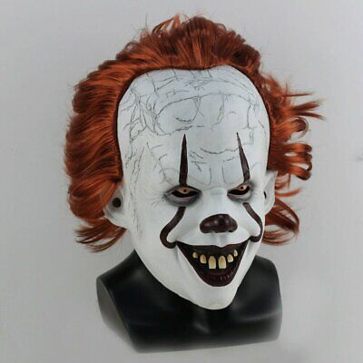 Halloween LED Glowing Stephen King's It Pennywise Chapter Two Cosplay Mask Prop