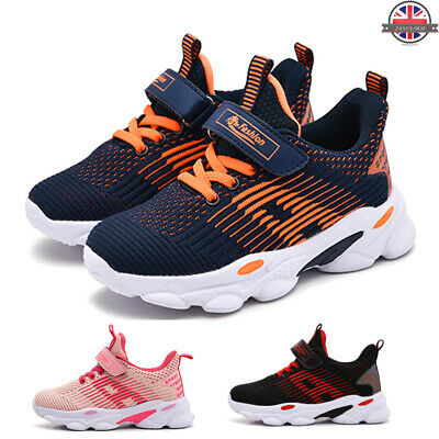 Children Flyknit Casual Trainers Boys Girls Lace Up Low Top Running Sports Shoes