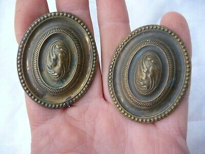 Antique Pair Edwardian Small Curtain Tie Back Fittings Nicely Detailed