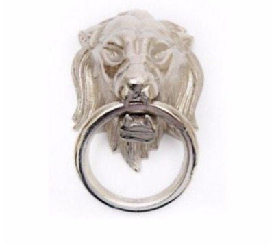 Silver Lion Ornament Door Knocker