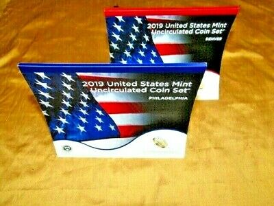 2019 US Mint Annual Uncirculated Coin Set - Without W Cent