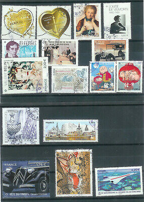 Superbe Lot 24 Timbres Gommes 2019 Obliteres Ttb Pcd Rond